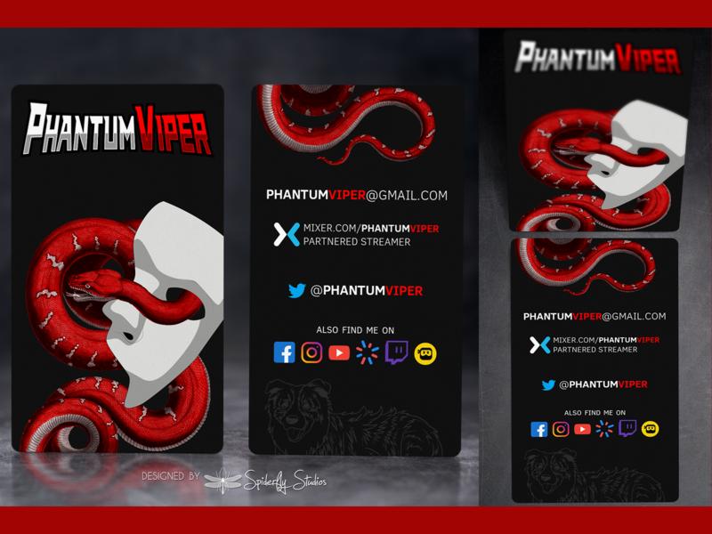PhantumViper Business Cards - Spiderfly Studios branding graphic design print design business card design business cards