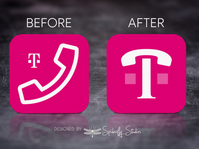 T-Mobile DIGITS Launcher Icon Update app design app ux app ui launcher icon app icon design app icon branding graphic design icon design