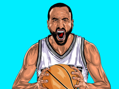Manu Ginobili - Cartoon Character