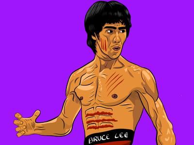 Bruce Lee - Cartoon Character