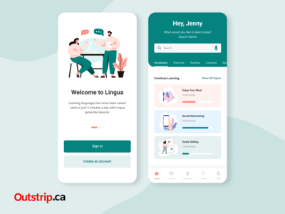 UI Design - Language Learning App - Web Design - Graphics