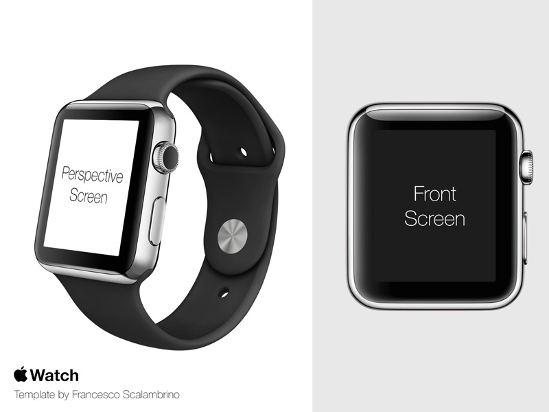 Apple Watch Free Template PSD apple watch iwatch template psd free clock mockup wrist app
