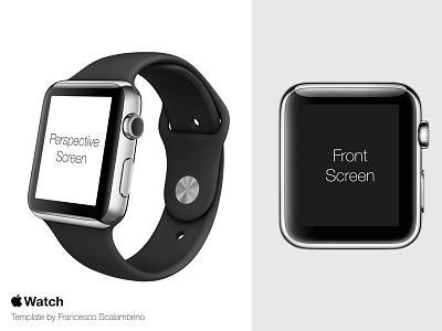 Apple Watch Free Template PSD apple watch iwatch template psd free clock mockup wrist app