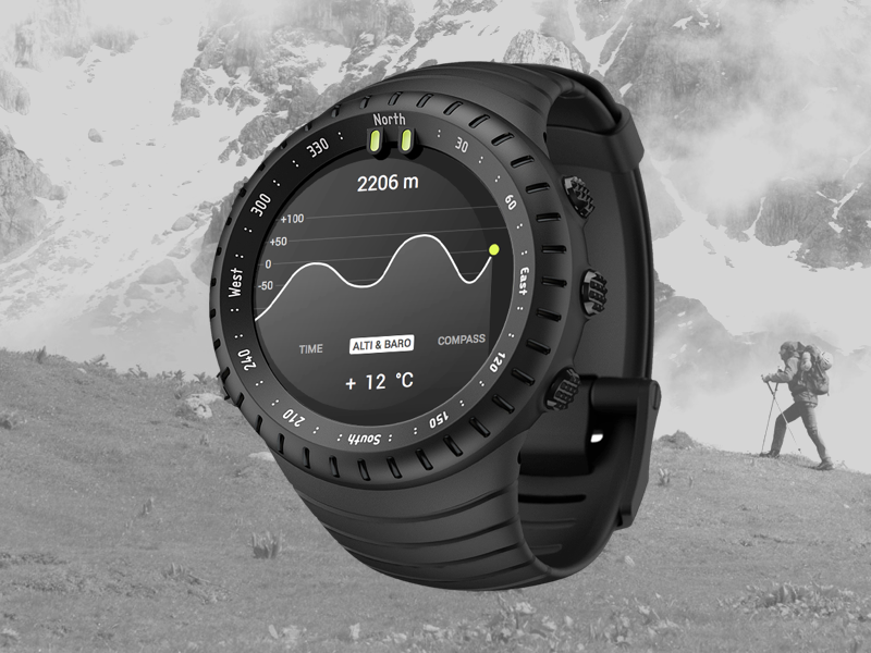 Suunto Core Smart Watch suunto watch smart app design mockup sketch