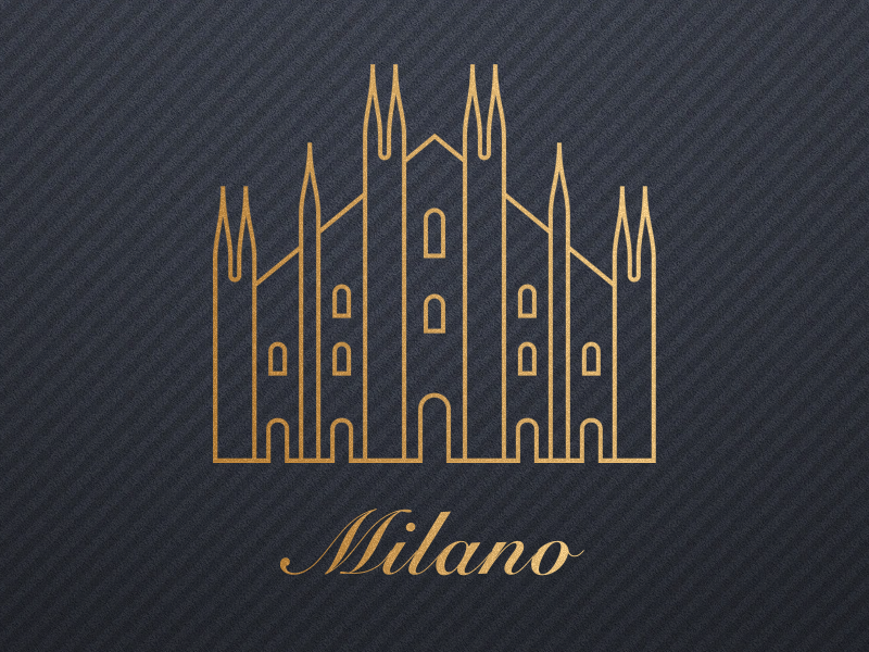 Milano fashion ui luxury italia city logo gold italy milano