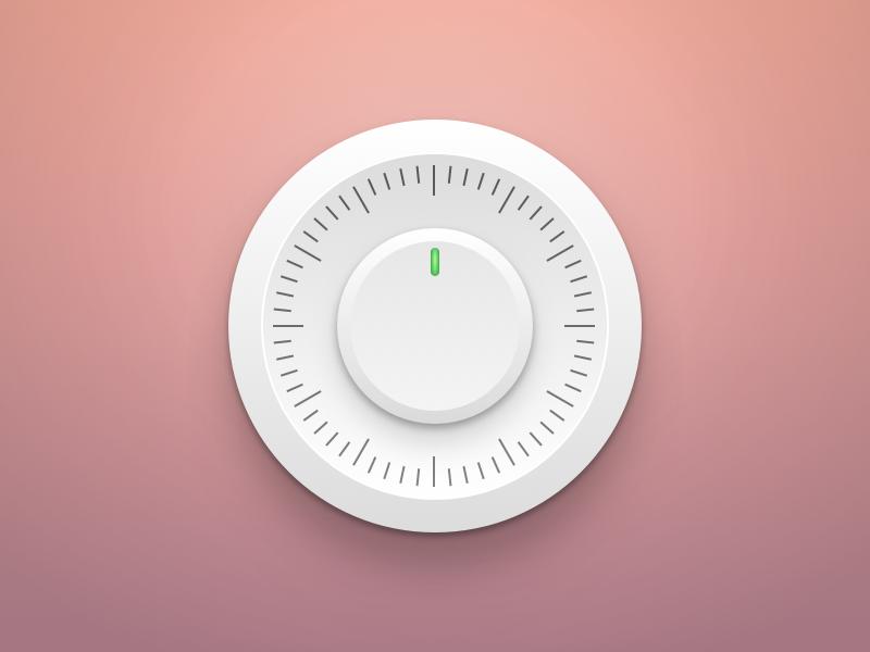 Modern Vault circle ui shadows minimal modern safebox control white icon safe vault