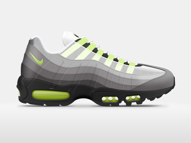Nike Air Max 95 95 sketch 3 sketch illustration ui design shoes max air nike