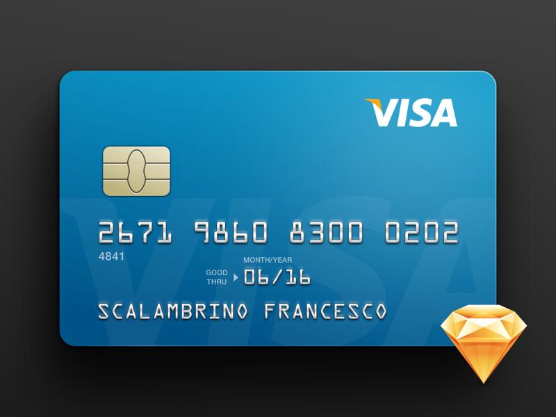 Credit Card Freebie illustration ui finance money bank card credit template psd sketch freebie credit card