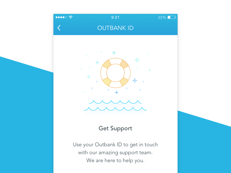 Get Support app icon illustration ui outbank ios help support