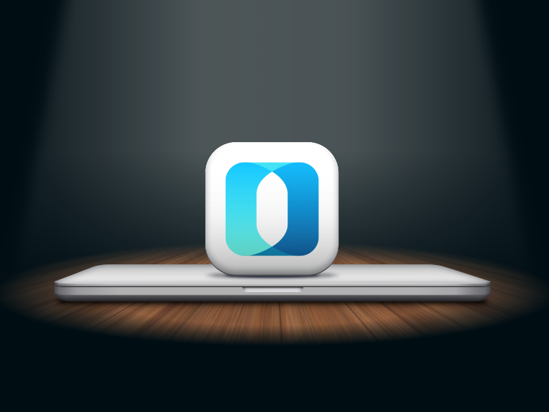 New Outbank for macOS apple sketch icon wood light spotlight macbook mac illustration app finance outbank