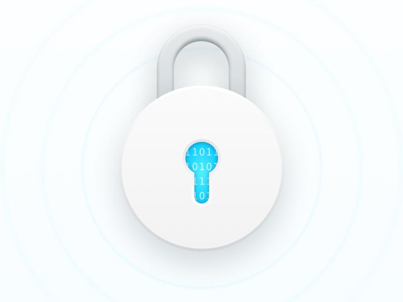 Lock illustration encryption website bank app fintech sketch security privacy illustration lock