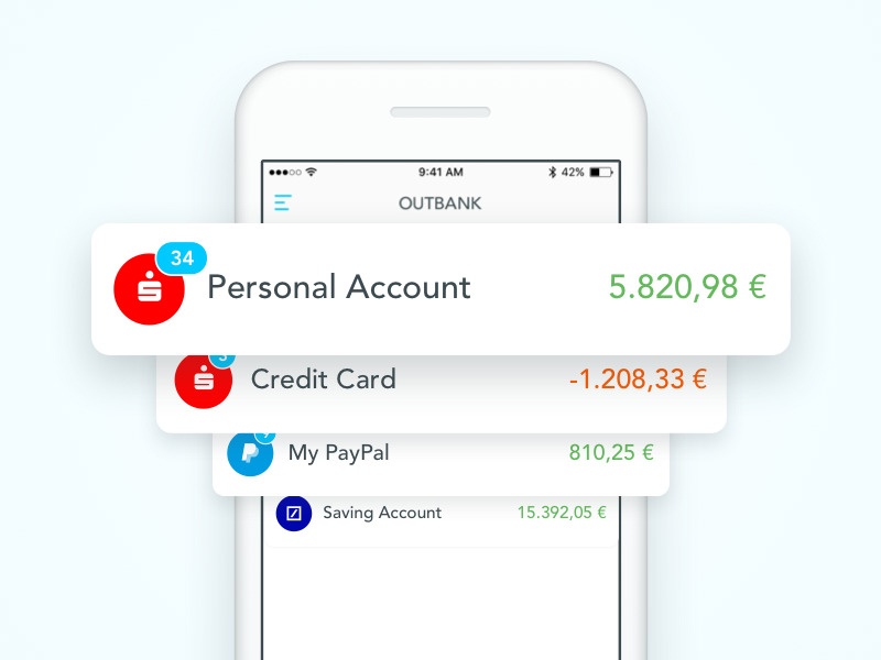 All your finances in one place website ui design sketch apple iphone illustration app finance outbank