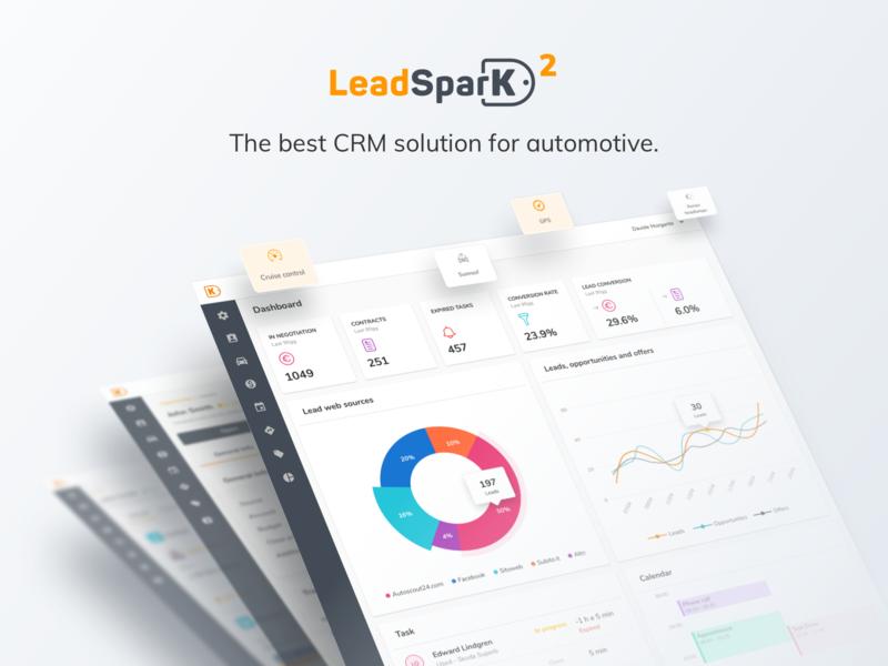 LeadSparK 2 - Automotive CRM website desktop app sketch interface design user experience saas b2b ux interface analytics charts dashboard ui app crm