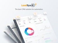 LeadSparK 2 - Automotive CRM website desktop app sketch interface design user experience saas b2b ux interface analytics charts dashboard ui app crm