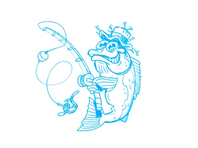 Fishing Fish Sketch