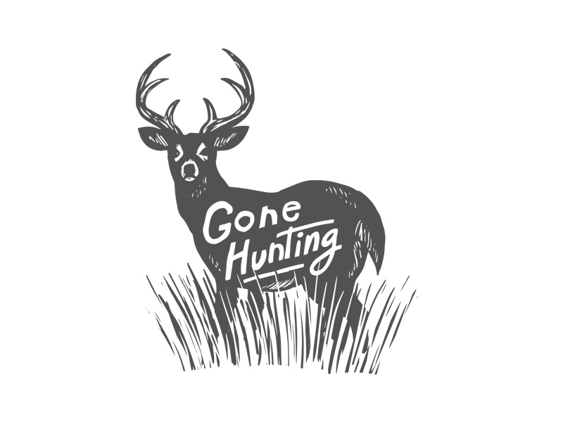 Gone Hunting Dribbble hunting deer gone hunting cartoon