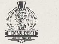 dinosaur ghost flyer poster design