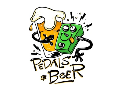 Pedals And Beer pedal guitar craft beer beer guitar pedals
