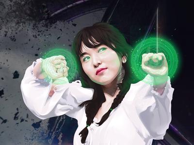 Myoui Mina Vexel Art (Dr.Strange Version )#2