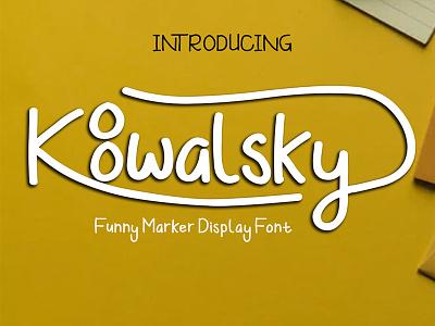 Koowalsky Font alternates ligatures design logo branding kids playful marker handwritten font handlettering display font