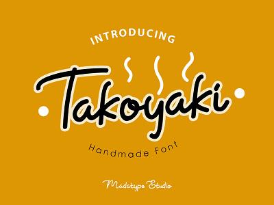 Takoyaki display font logo monoline handwritten handlettering handmade
