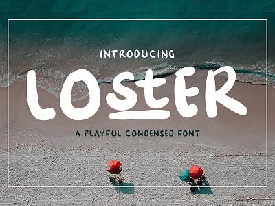 Loster bold font condensed font ligatures handwritten font handwritten handmade handlettering display font