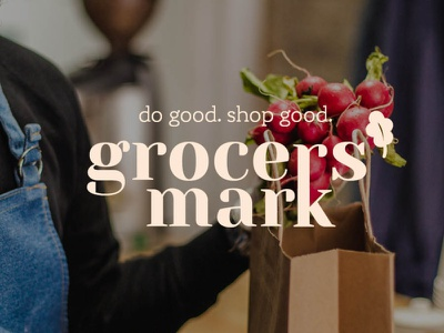Grocer's Mark vector branding logo graphic design graphic design