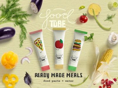 Food Tube branding typography graphic design graphic design