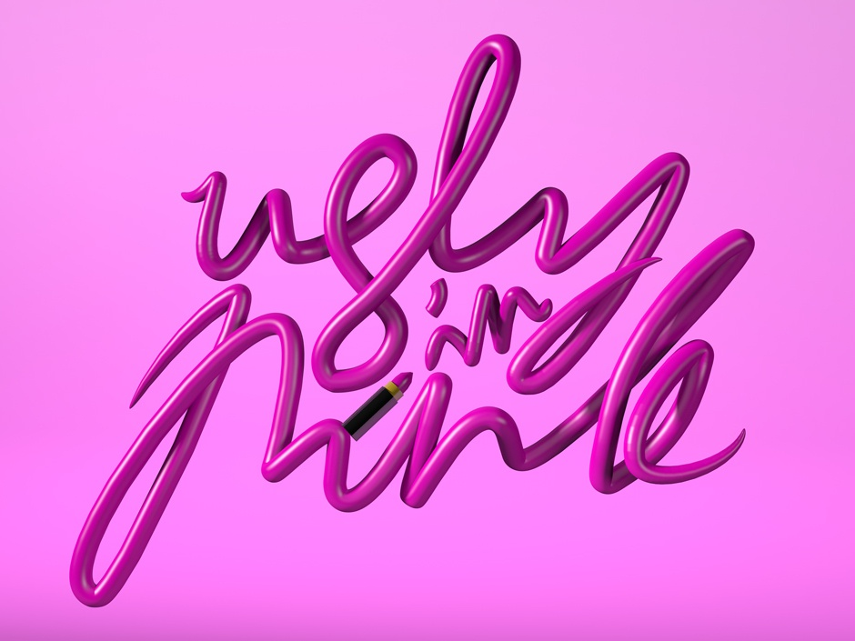 Ugly In Pink art 3d art type graphic  design graphic graphic design typography cinema 4d 3d