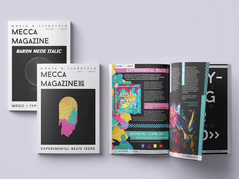 Mecca Magazine Mockup print magazine editorial design editorial art editorial layout editorial print design mixed media graphic art art design graphic design