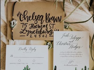 Cactus Wedding Suite | Hand Lettering adobe illustrator adobe lettering on things vector illustration typography bohemian wedding design styled shoot virginia wedding stationary design hand lettering design couple style shoot branding blueridge