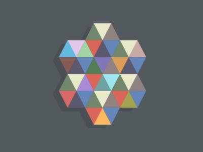 I spy a triangle shapes colors mark