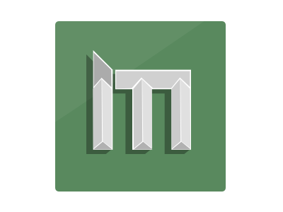 M is for Mmmm logo mark type m