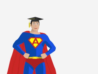"Super ""A"" Man vector illustration superman"