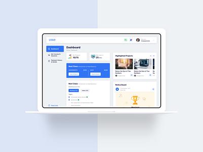 e-Learning Dashboard design webapp e learning dashboard ui study online shop online class dashboard
