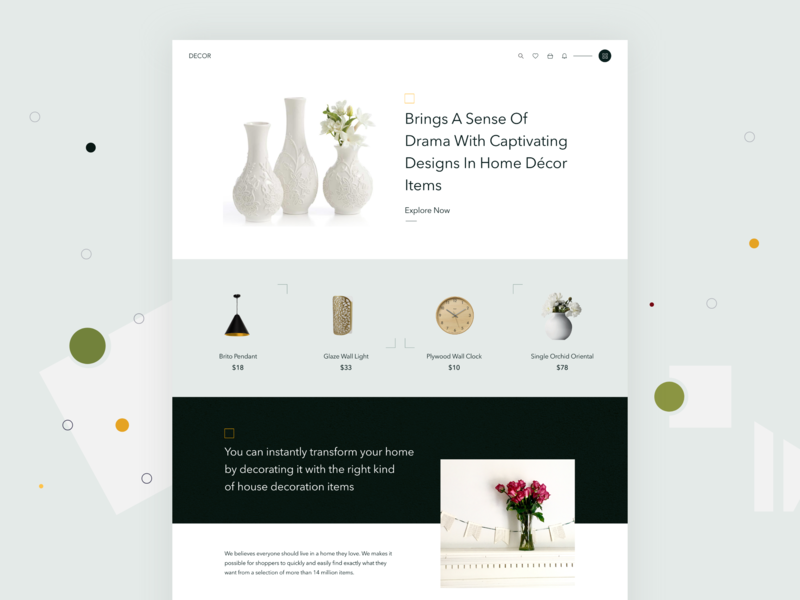Home Decor Products by Focaloid Studio on Dribbble