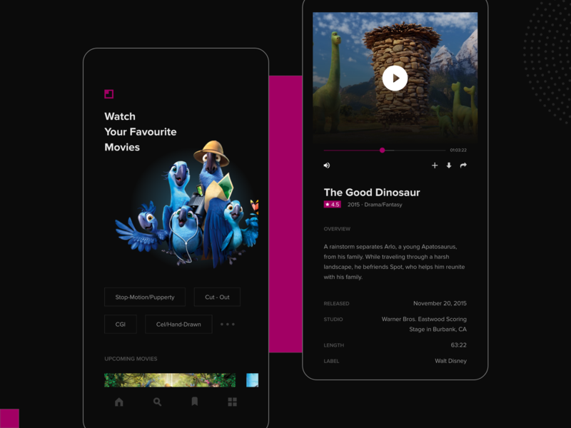 Movies Online App by Focaloid Studio on Dribbble