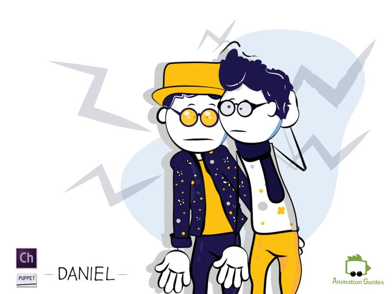 Friends guys two glasses couple friends cartoon man boy customizable stick figure design vector ai illustration download character animator character design character flat puppet