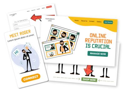 Meet Roger [ Web & Mobile] web design web illustrations man male illustrator eps svg ui mobile web illustrations character design design pack flat ai vector download character illustration