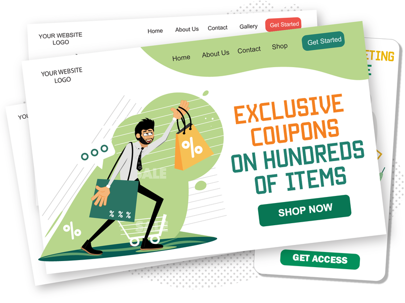 Shopping with Rogerio shopping app sale character illustrations pack illustrations shopping man male character male web svg ui ai character design character illustration vector download flat