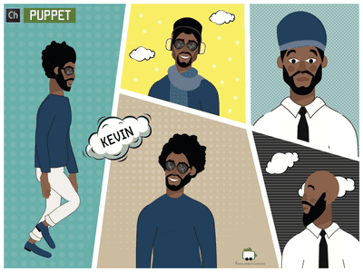 The Ballad of Kevin character art character animation comics men man african african american male character animated character character illustration ai puppets flat download character design character animator puppet character vector illustration