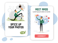 Amos Illustrations Pack [Mobile Screens]
