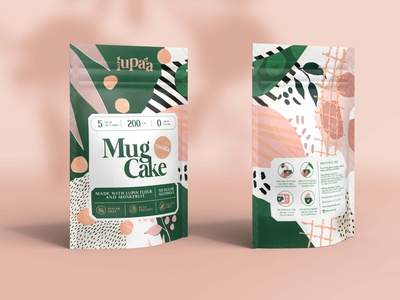 Lupaa Mug Cakes illustration 3d branding packaging design packaging