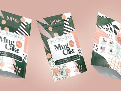 Lupaa mug cakes packagingdesign packaging branding design branding 3d