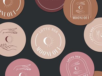 Moonloft latte bar coffee packaging design logo beverages branding cafe coffeeshop coffee latte