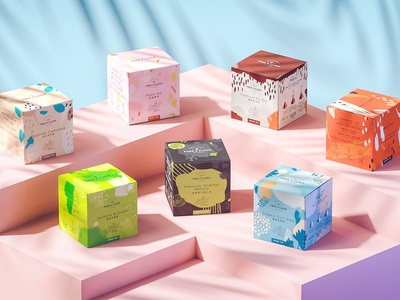 Free O'Clock Tea packaging packaging design tea packaging beverages tea packaging branding illustration