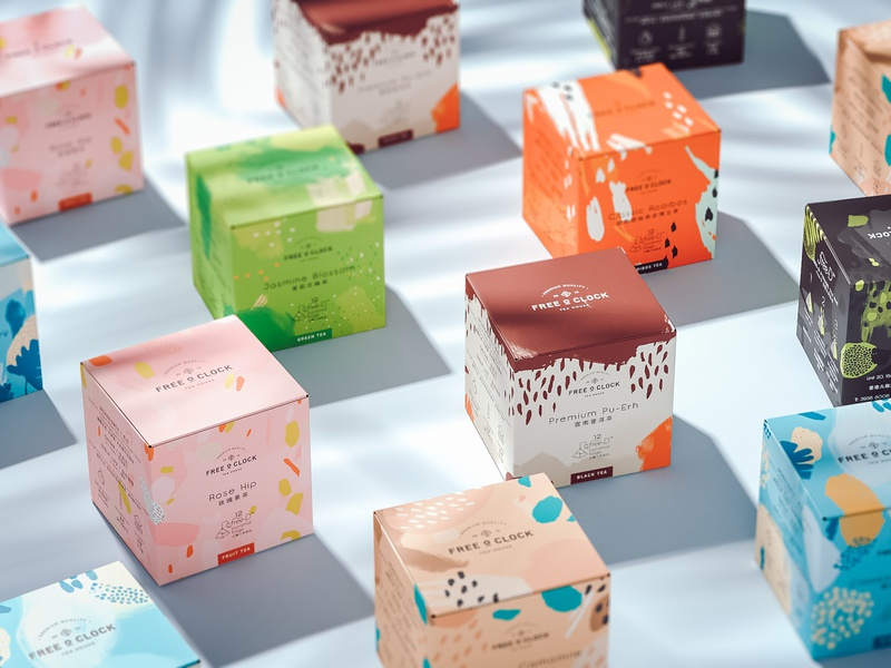 Free O'Clock Tea packaging design tea packaging tea packaging design packaging illustration branding beverages