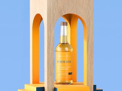 Bever Age Lemon Smoke packaging packaging design design 3d illustration beverages packaging branding