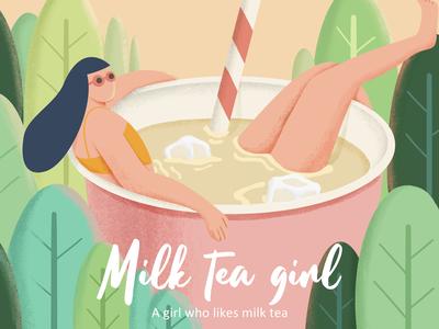 Milk tea girl