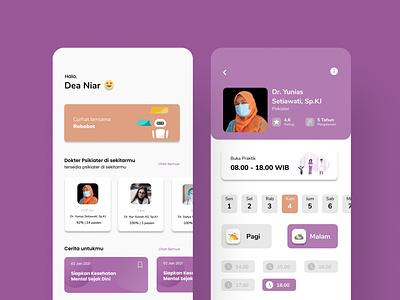 Mobile Counseling App app illustration homepage ui mobile application